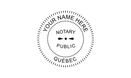 Québec Notary Public Embossing Seal