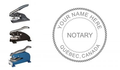 Québec Notary Public Seal Embosser