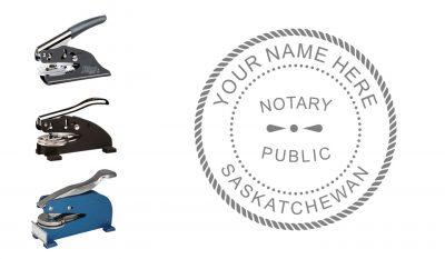 Saskatchewan Notary Public Seal Embosser