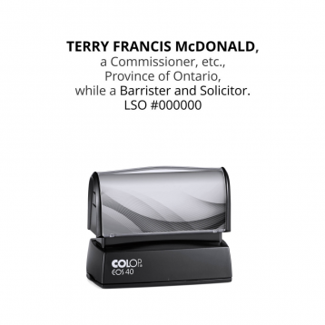 Ontario Commissioner for Oaths Barrister & Solicitor Premium Pre-Inked Stamp
