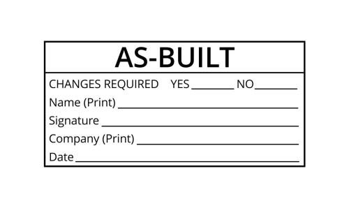 As-Built Engineering Stamp