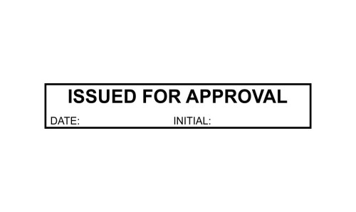 Issued for Approval Initials Stamp
