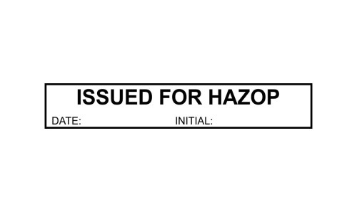 Issued for Hazop Initials P25