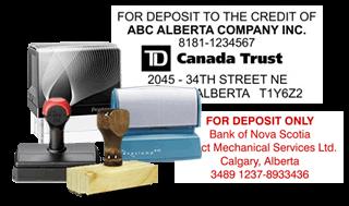Cheque Endorsement Bank Deposit Stamps