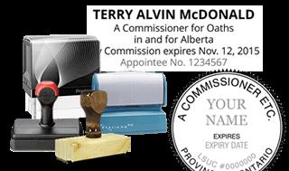 Commissioner for Oaths / Affidavits Stamps