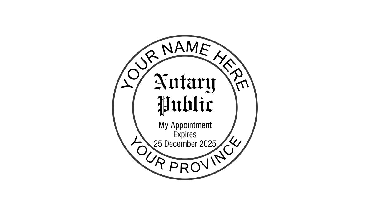 Notary Public Round Stamp W Expiry Date