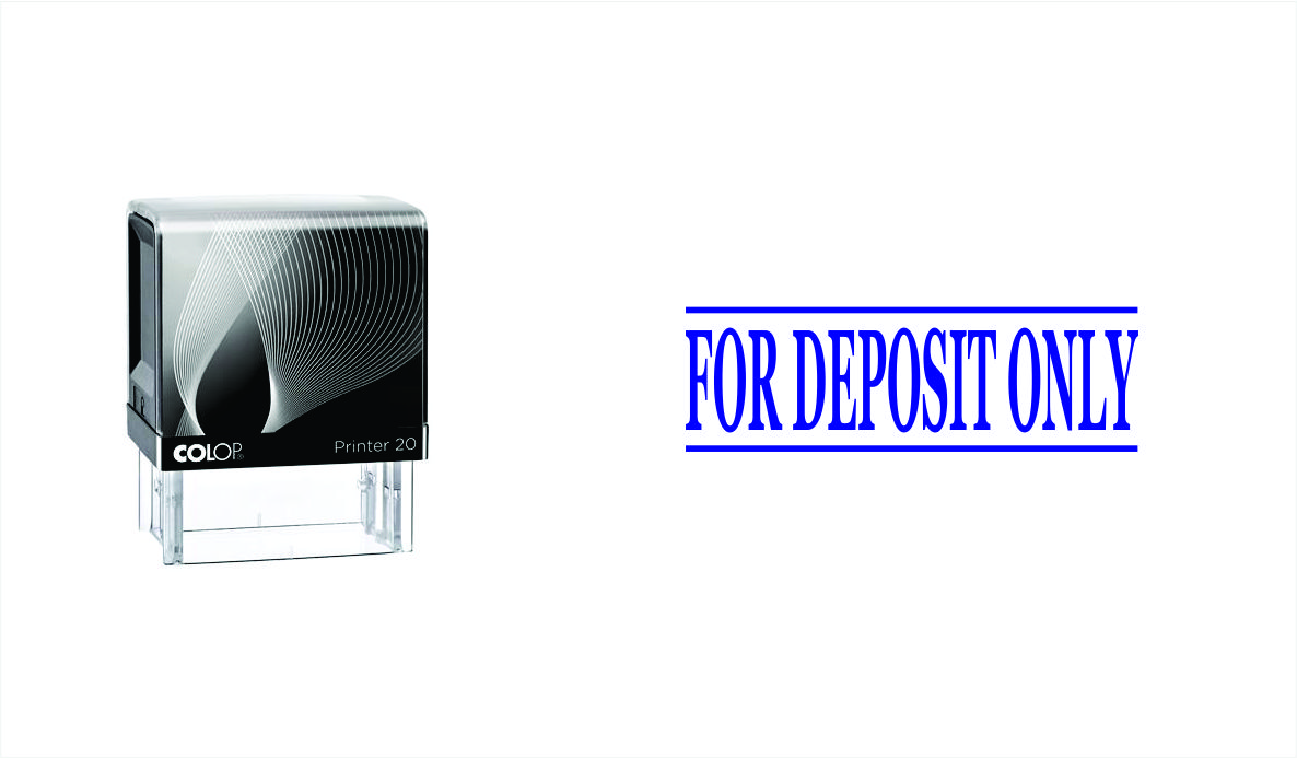 For Deposit Only Stock Phrase Stamp