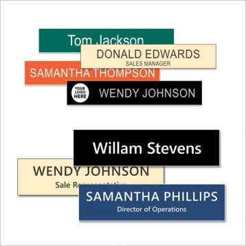 Engraved Plastic Name Plates for Aluminum Desk and Wall Frames