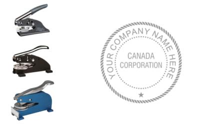 Canada Corporation Corporate Seal Embosser