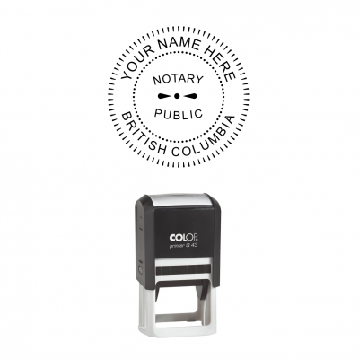 British Columbia Notary Seal Self-Inking Stamp