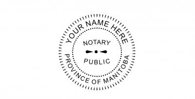 Manitoba Notary Seal Pre-Inked Stamp