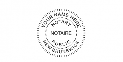 New Brunswick Notary Seal Pre-Inked Stamp