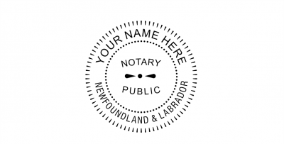 Newfoundland and Labrador Notary Seal Pre-Inked Stamp