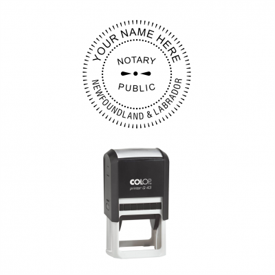 Newfoundland and Labrador Notary Public Seal Self-Inking Stamp