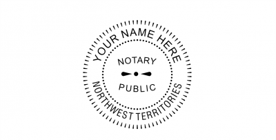 Northwest Territories Notary Public Seal Pre-Inked Stamp