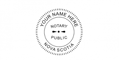 Nova Scotia Notary Public Seal Pre-Inked Stamp