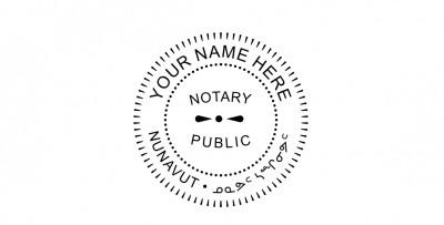 Nunavut Notary Public Seal Pre-Inked Stamp