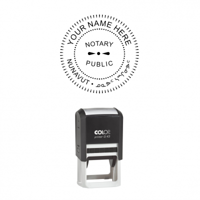 Nunavut Notary Public Seal Self-Inking Stamp