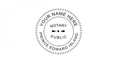 Prince Edward Island Notary Public Seal Pre-Inked Stamp