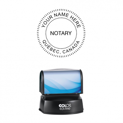 Québec Notary Public Seals Pre-Inked Stamp