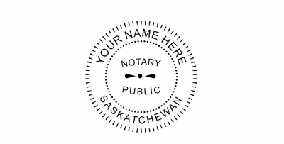 Saskatchewan Notary Public Seal Pre-Inked Stamp