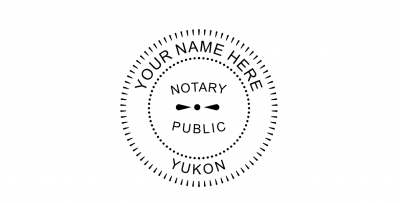 Yukon Territory Notary Public Seal Pre-Inked Stamp