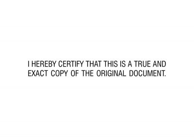 Certify True Copy Stamp