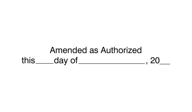 Amended as Authorized Stamp