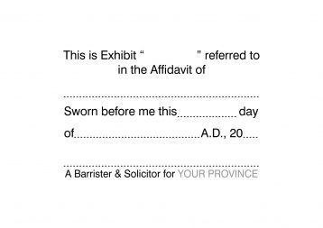 Barrister & Solicitor Exhibit Stamp