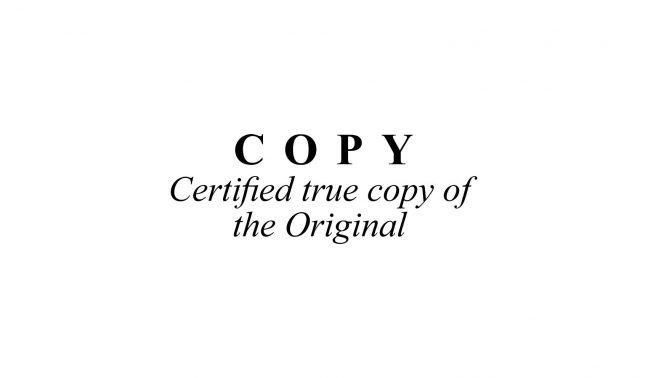 Certified True Copy Original Stamp
