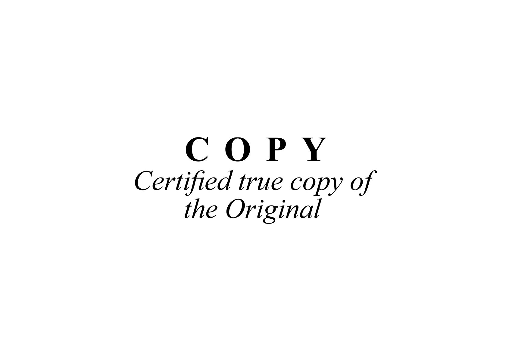 Certified True Copy Original Stamp