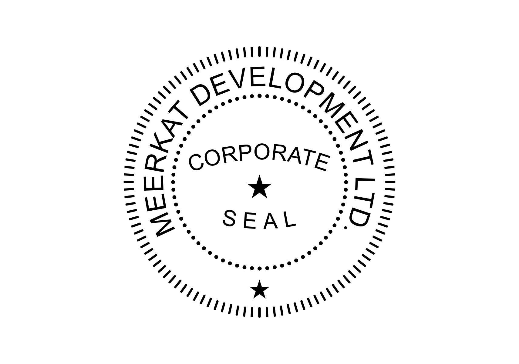 Corporate seal stamp for Common seal template