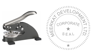 1 5/8 inch dia Corporate Desk Seal