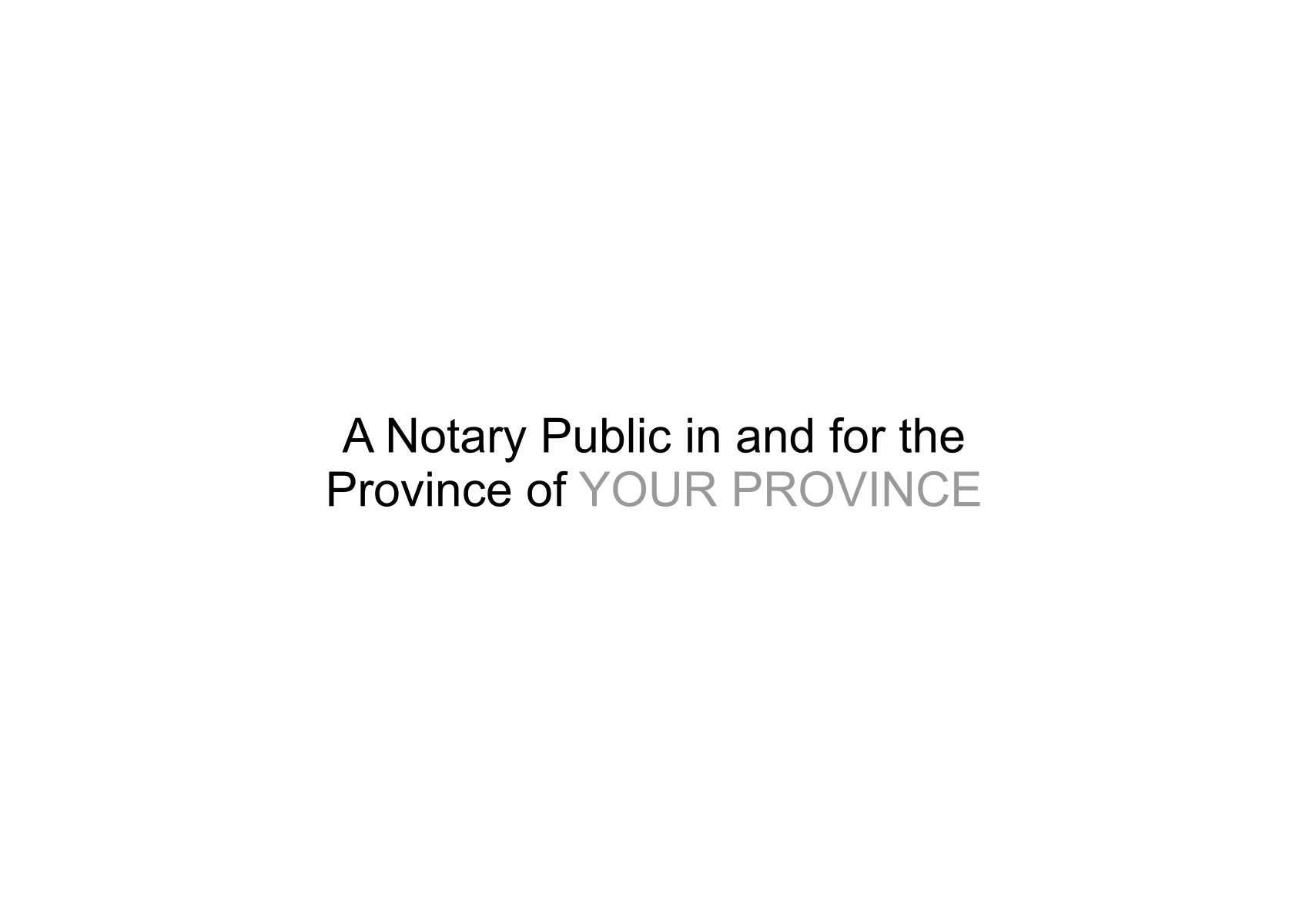 Application One Two Territories Yukon Territories 21 California Notary