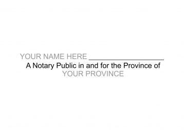 Notary Public Signature Stamp