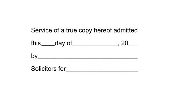 Service of True Copy Stamp