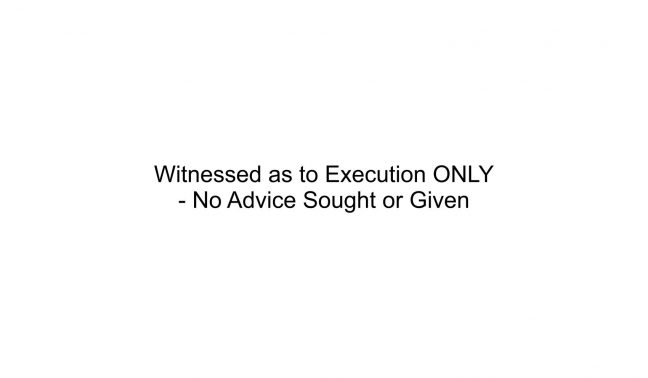 Witness to Execution ONLY Stamp