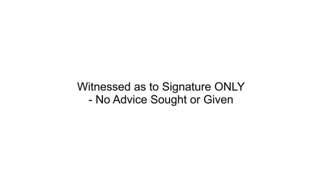 Witness to Signature ONLY Stamp